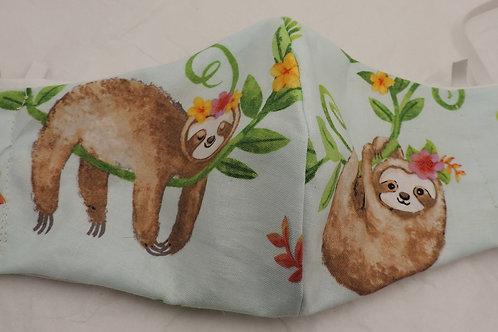 """14"""" adorable sloths, fabric mask"""