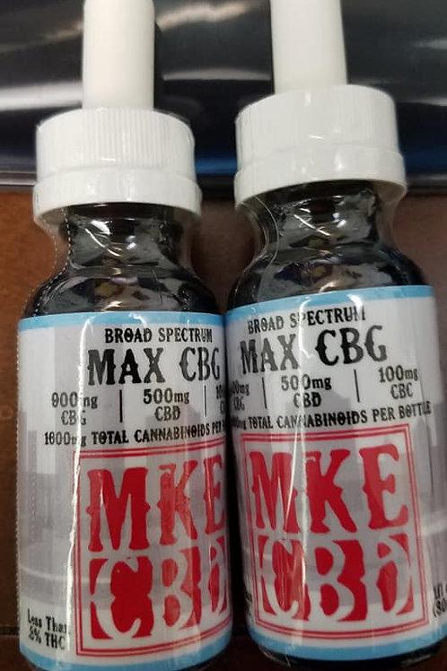 Broad Spectrum MAX CBG Hemp Oil 1600mg    (53mg / mL)