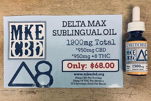 Delta Max 1900mg Oil