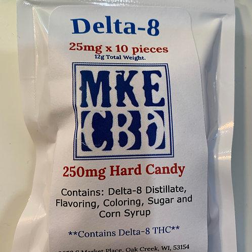 Delta 8 Candy Hearts, 250mg, 4pc