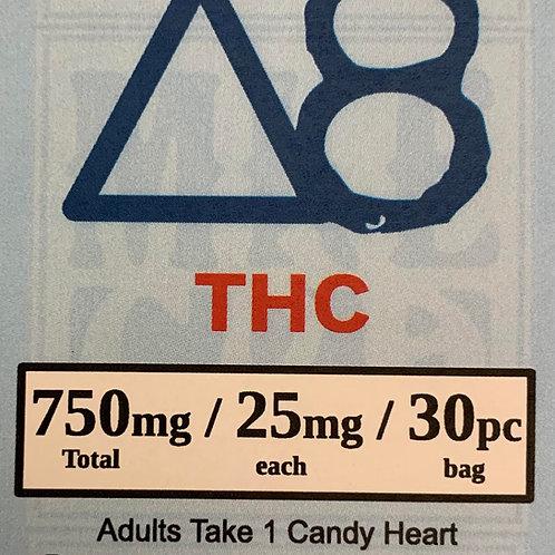 Delta 8 Candy Heart 750mg