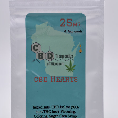 25mg CBD Candy Hearts