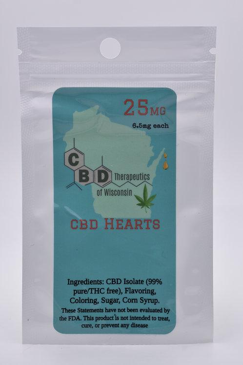 25mg CBD Candy Hearts