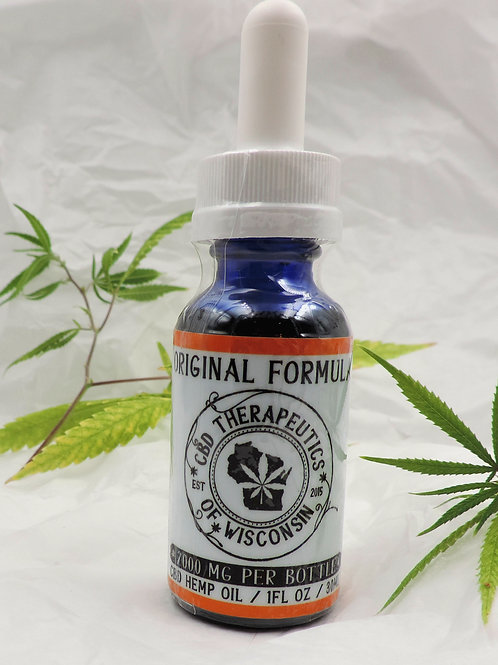 2000mg CBD Original Formula (Isolate) Oil
