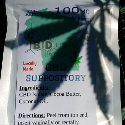 100 mg CBD Suppository 5 pack