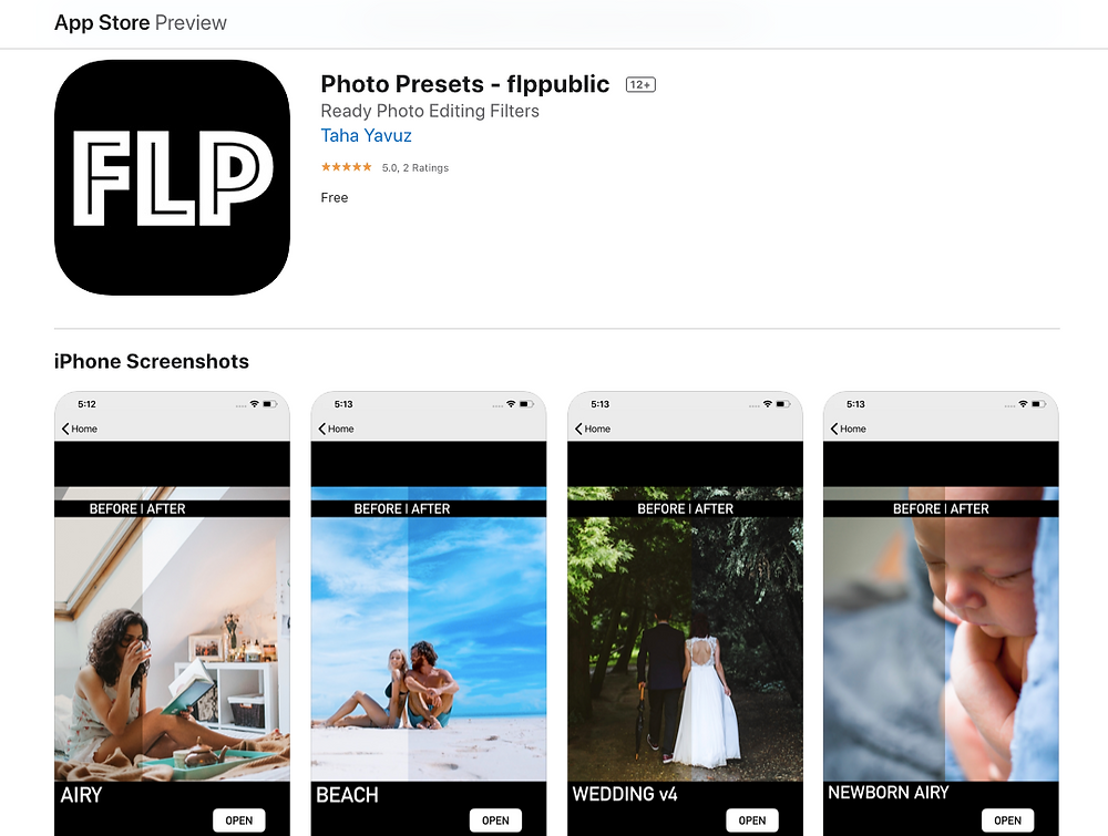 Free Lightroom Presets iPhone app on App Store
