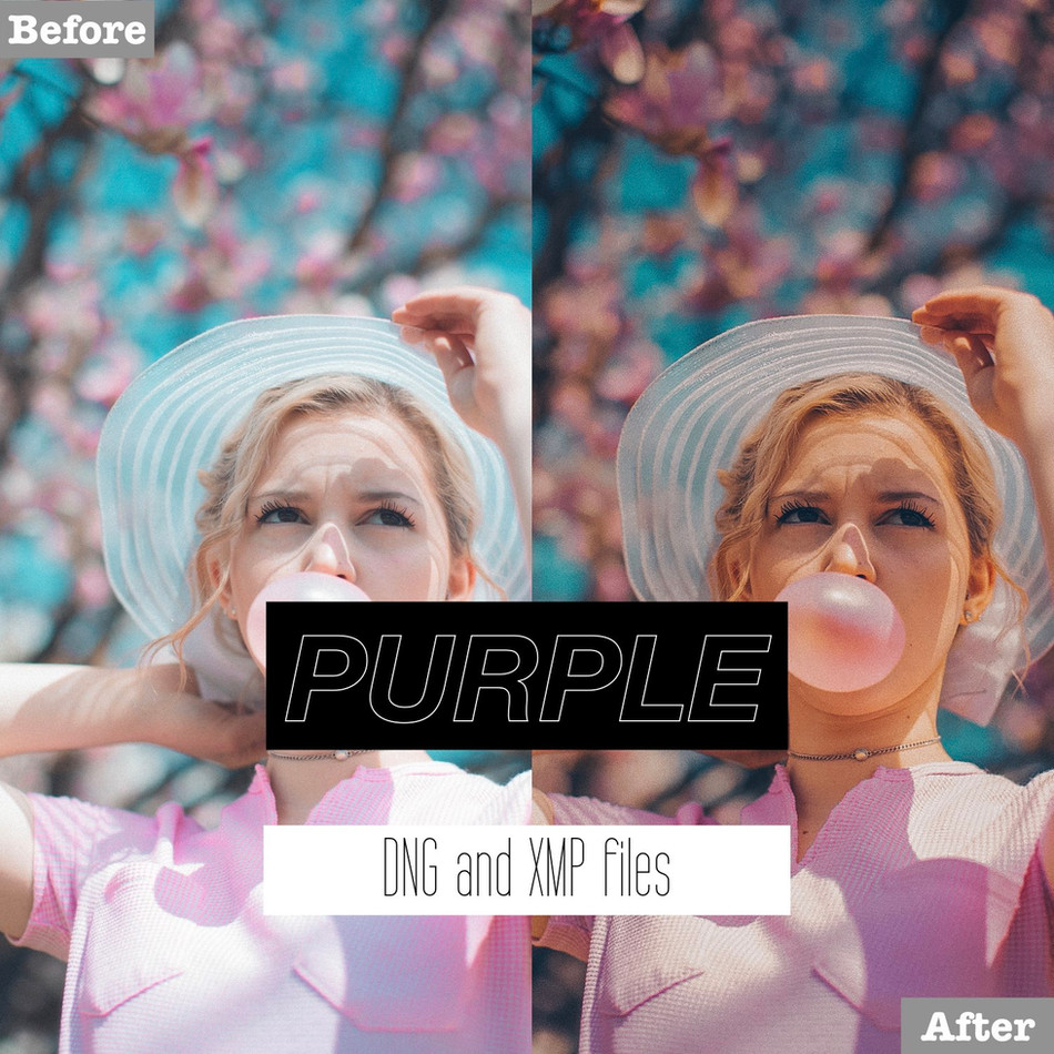 Purple Lightroom Presets