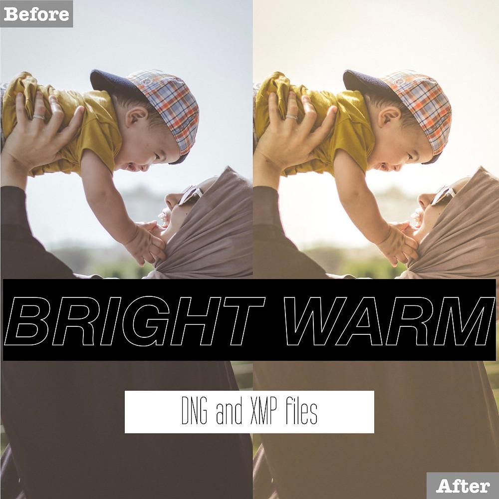 Bright Warm and Vintage Lightroom Presets