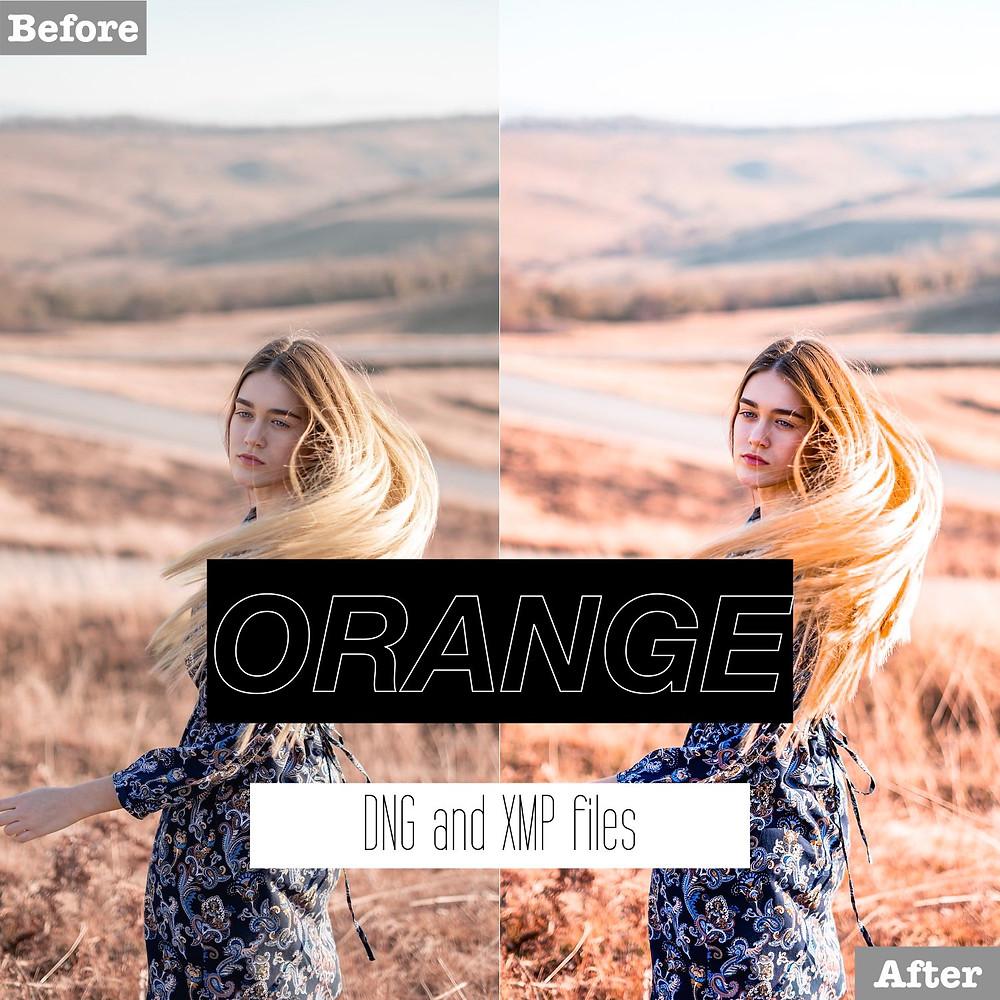 Orange Lightroom Presets