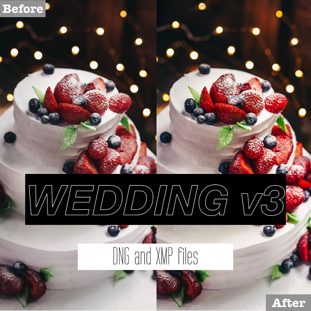 Wedding Cake Lightroom Presets
