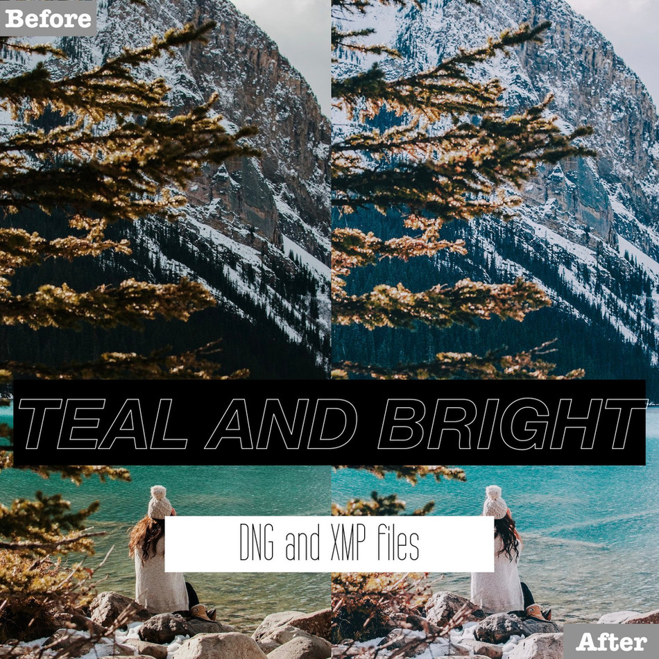 Teal and Bright Lightroom Presets