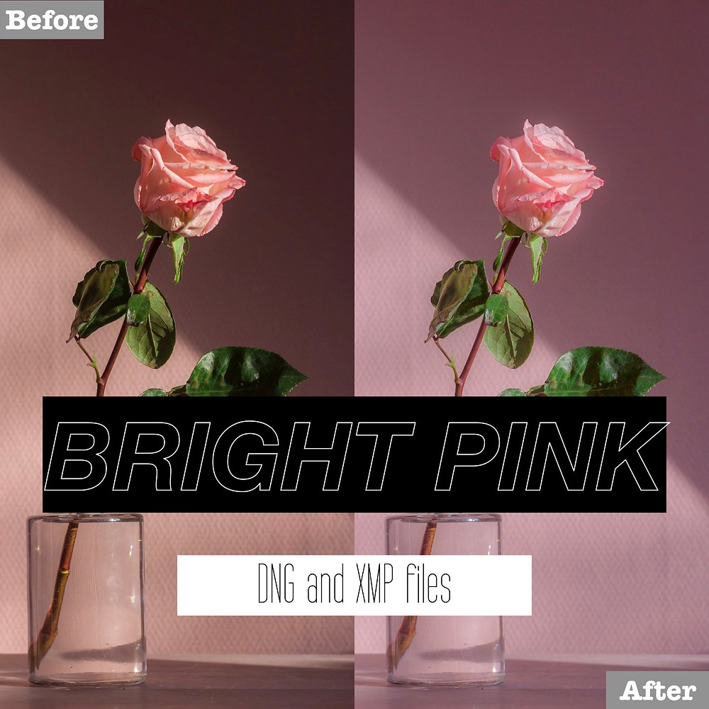 Bright Pink Lightroom Presets