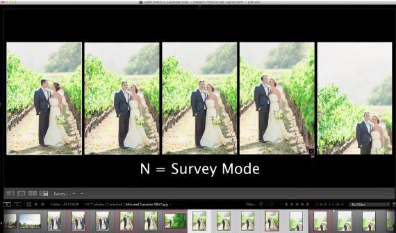 Lightroom Survey Mode Shortcut