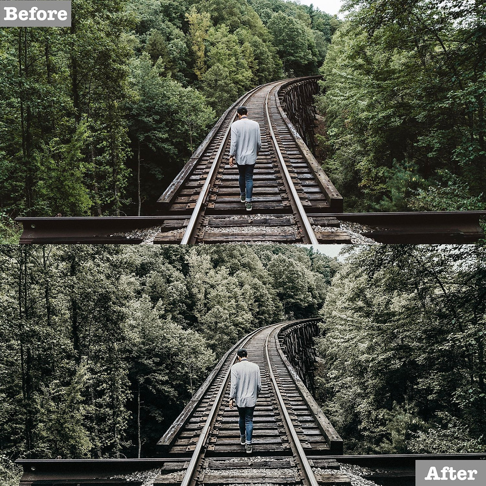 Dark and Gray Lightroom Preset Edit