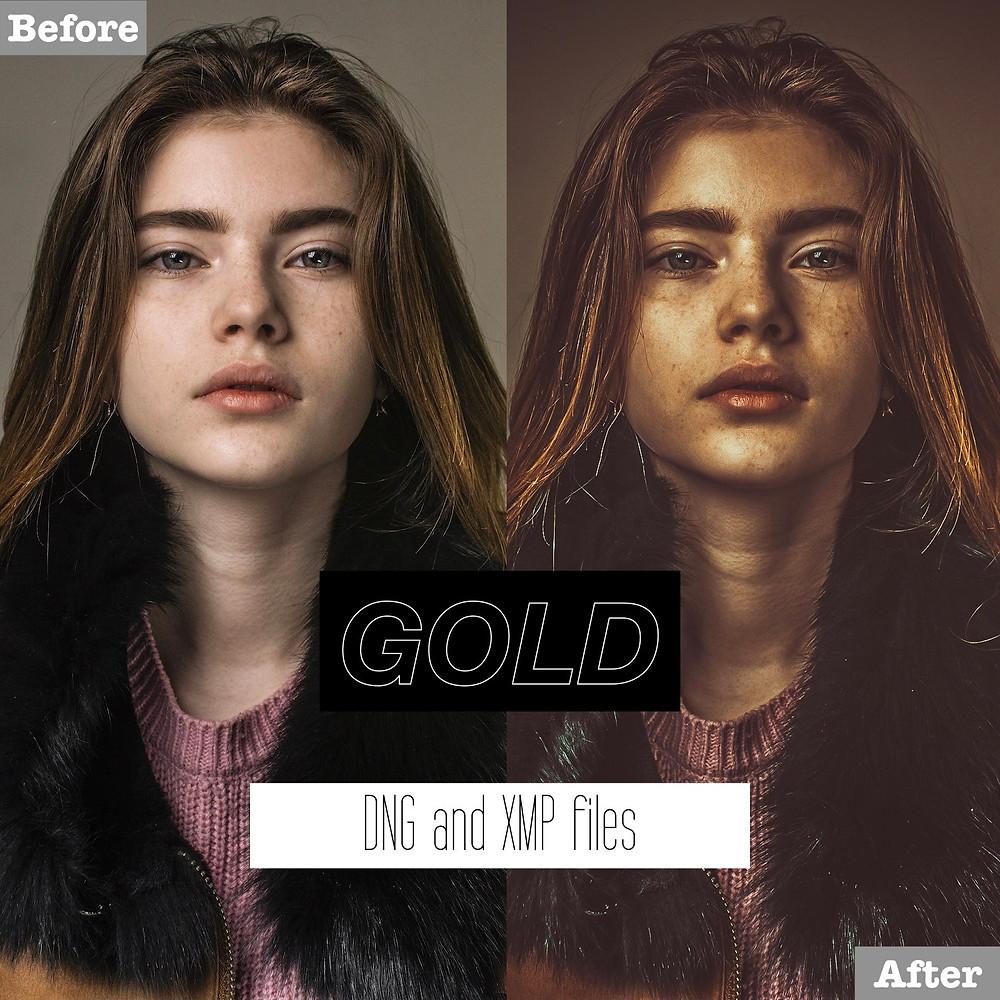 Lightroom Presets for Golden tones