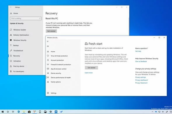 Windows 10 users have reported the Fresh Start feature has been broken by version 2004