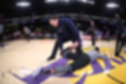 Former NBA Strength and Conditioning Coach Sean Light Warms Up the Lakers Before a Game in Los Angeles
