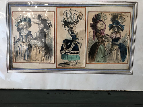 Lithograph Ladies in Hats