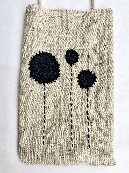 Hemp Embroidered Phone Pocket 2