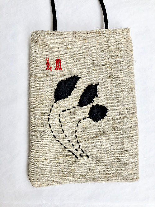 Hemp Embroidered Phone Pocket
