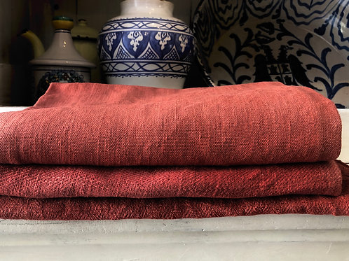 Dyed Vintage French linen dish towels