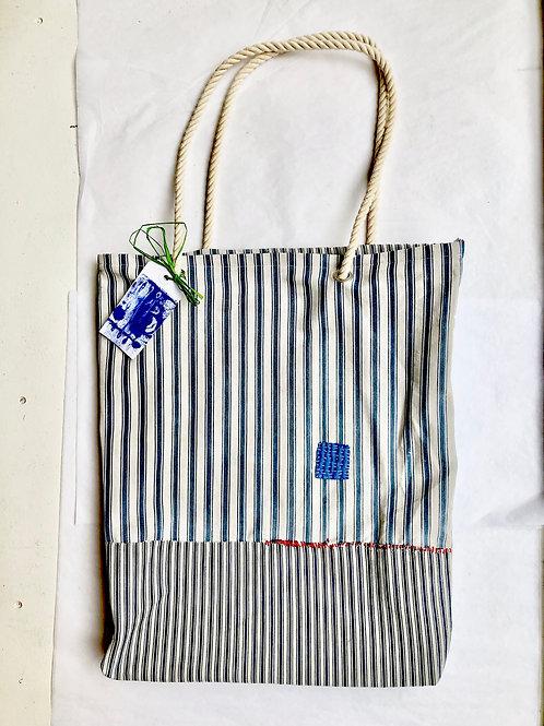 Mattress Ticking Tote Bag