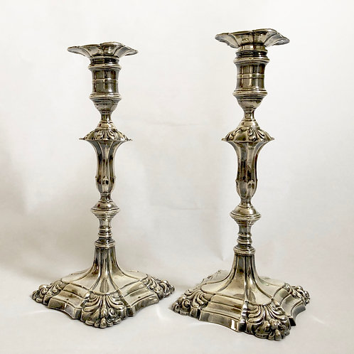 Pair of Antique Sterling Candlesticks