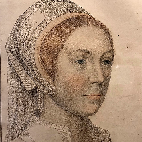 Bartolozzi etching Catherine Howard