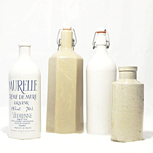 Earthenware bottles and Bouillottes