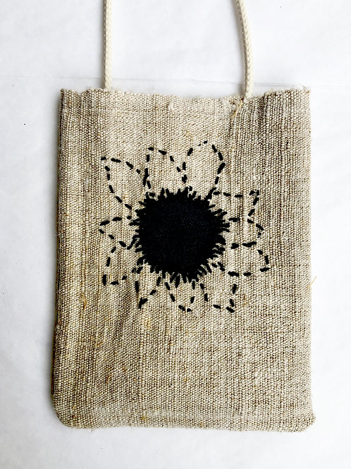 Hemp Embroidered Phone Pocket 3