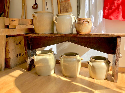 French earthenware confit pots