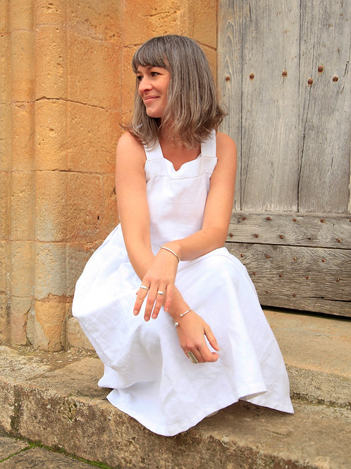 Upcyled French Linen Dress
