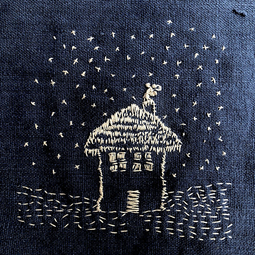Snow House Embroidery