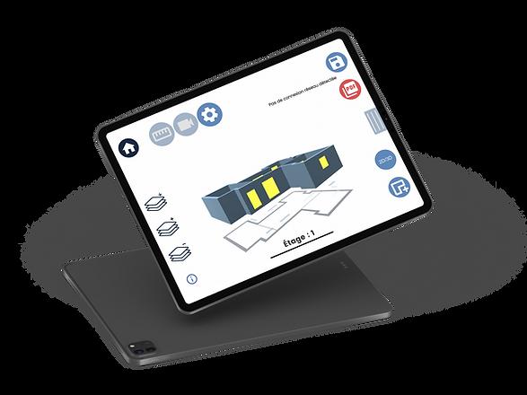 Illustration de l'application ARtoBuild destinées aux professionnels du bâtiment