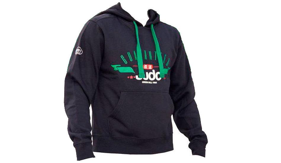 Felpa Judo nera-verde unisex