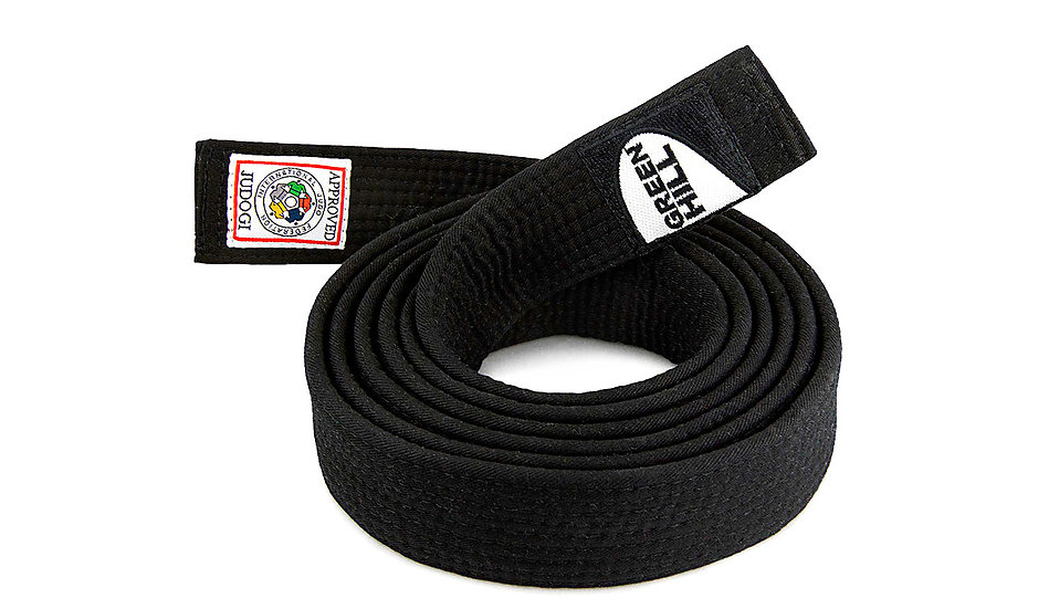 Judo Belt Black IJF