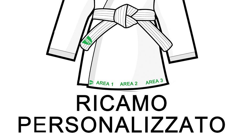 Ricamo personalizzato su judogi