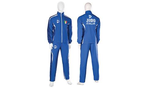 8d4cf20dcab6 Tuta sportiva ispirata al Judo, scudetto Italia ricamato sul petto, ricamo
