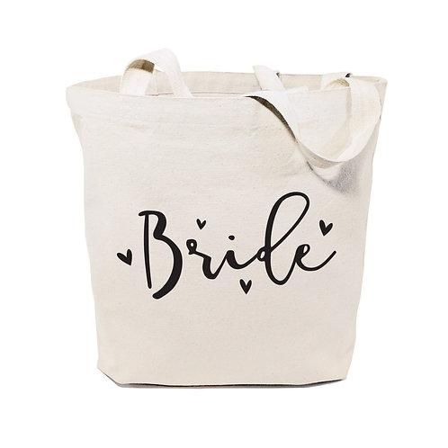 Bride Wedding Cotton Canvas Tote Bag