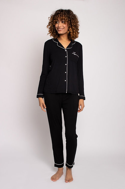 Bamboo Pajama Set in Black