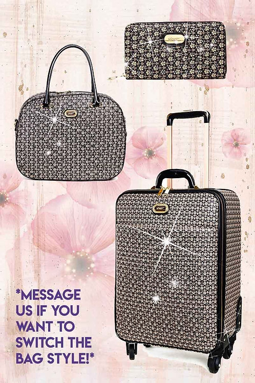 Galaxy Stars 3PC Set | Vegan Leather Bags Luggage Set on Clearance