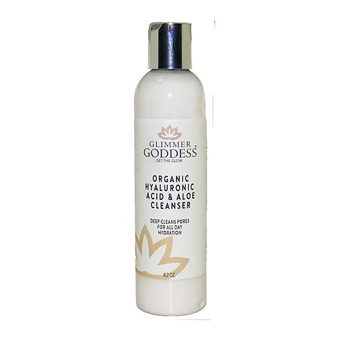 Glimmer Goddess Organic Hyaluronic Acid & Aloe Micro Pearl Cleanser