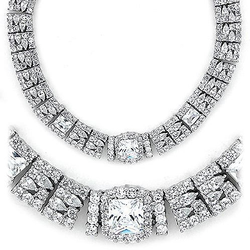 LOAS1305 Rhodium 925 Sterling Silver Necklace with
