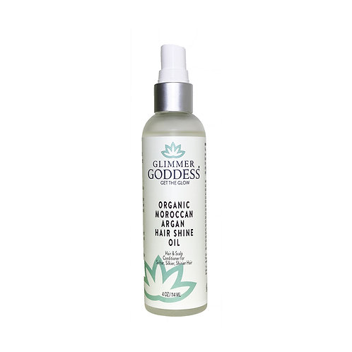 Glimmer Goddess Organic Moroccan Argan Oil Hair Shine Spray