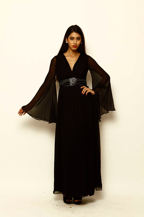 Lanah 100% Silk Maxi Dress