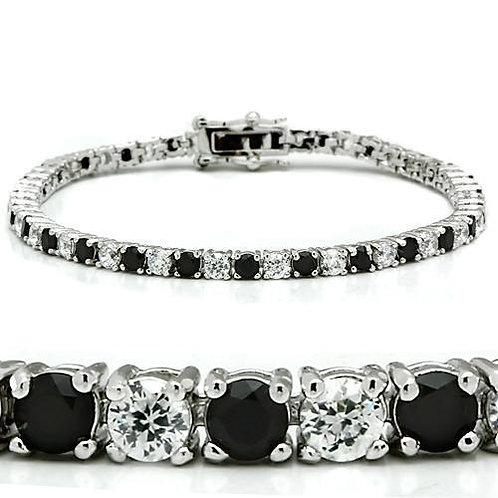 46903 Rhodium Brass Bracelet with AAA Grade CZ in