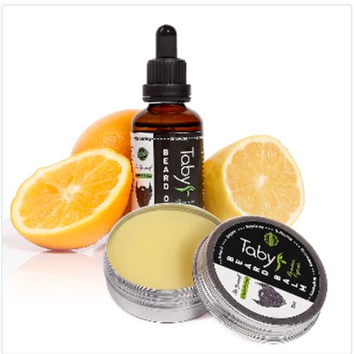 Beard Oil for Men (2 oz) & Beard balm with Argan & Jojoba Oils