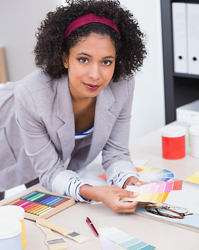 Portrait of female interior designer at