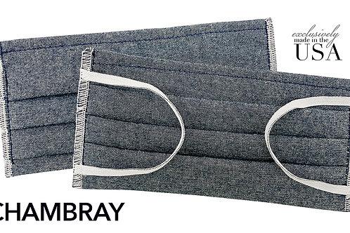 Chambray 100% Cotton USA Made Face Mask