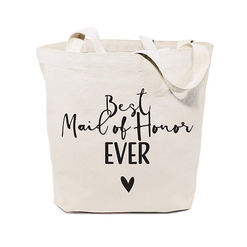 Best Maid of Honor Ever Wedding Cotton Canvas Tote Bag